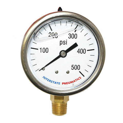 0-500 PSI Oil Filled Pressure Gauge - JABETC.COM