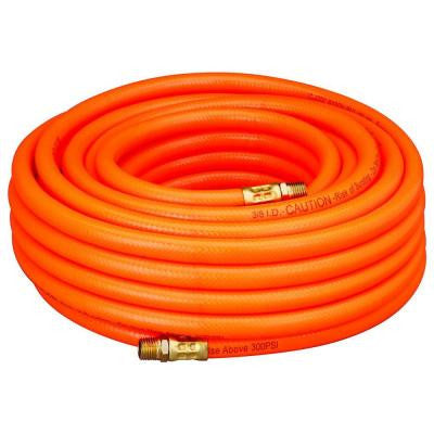 "3/8"" x 25 Foot Orange PVC Flexible Air Hose - JABETC"