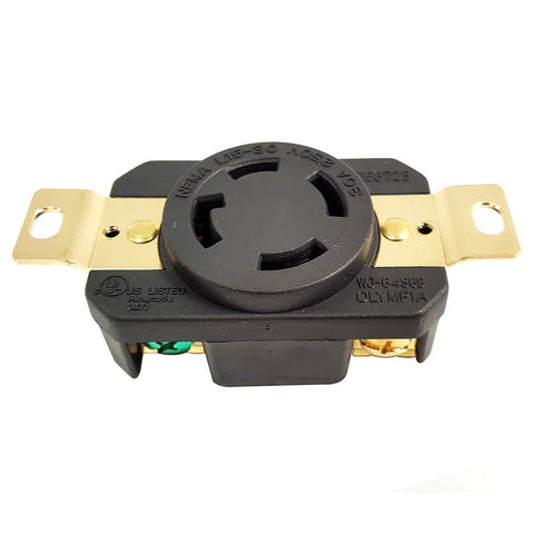 Twist Lock Female Wall J Box Mounted Electrical Receptacle 4 Wire 30 Amps 250V L15-30R - tool