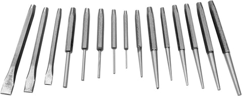 16 Piece Steel Punch and Chisel Set - tool