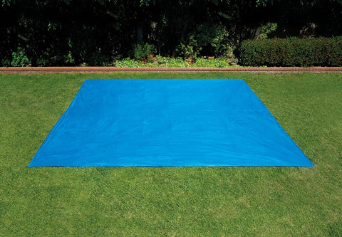 Rectangular Ground Cloth Tarp for Up to 28 Foot Long Above Ground Swimming Pool Mat