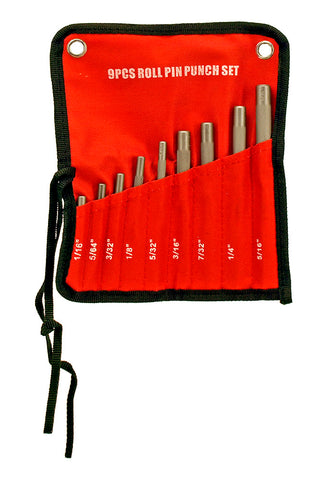 9 PC Roll Pin Punch Tool Set - tool