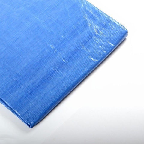 10 x 30 Foot Blue Poly Plastic Water Weather Shade Tarp Cover Patio Canopy - tool