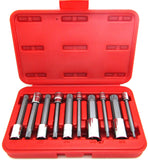 10 PC Long Spline XZN Triple Square Socket Bit Set TamperProof - tool