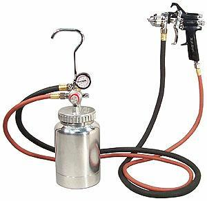 Air Paint Spray Gun with 2 Quart Pot - tool