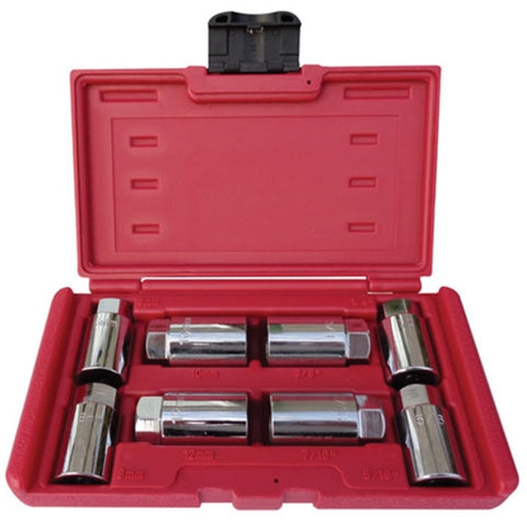 8PC Auto Metric and Sae Stud Remover Socket Tool Set - tool