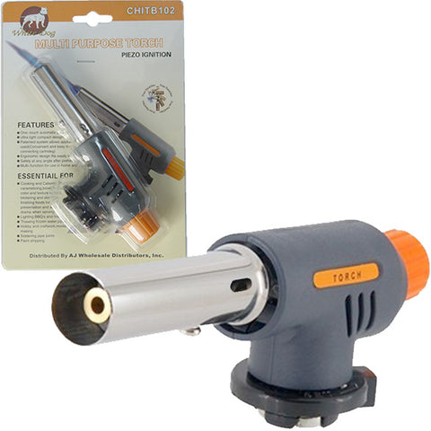 Gas Fuel Small Hand Held Burner Blow Solder Torch Attachment for Butane Can Tank