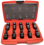 "3/8"" Drive U-Joint Air Impact Metric Universal Wobble Socket Tool Set"