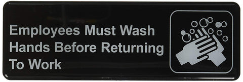 Employees Must Wash Hands Before Returning To Work Sign - tool