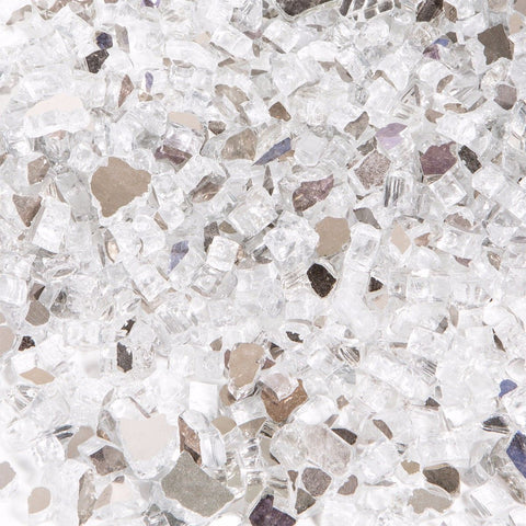 Clear White Fire Glass Media for Fire Pit Fireplace