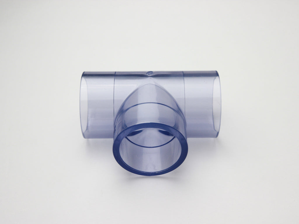 Pipe Works - LARGE 40mm ID Clear Pipe T Connector