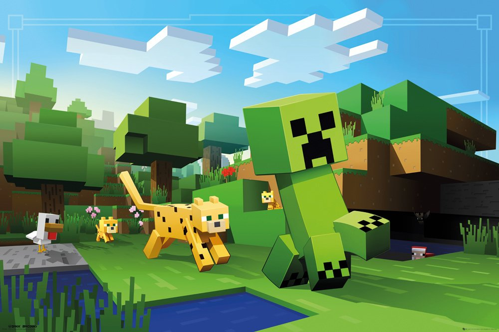 FP4300 MINECRAFT Ocelot Chase Maxi Poster (Stor Plakat)