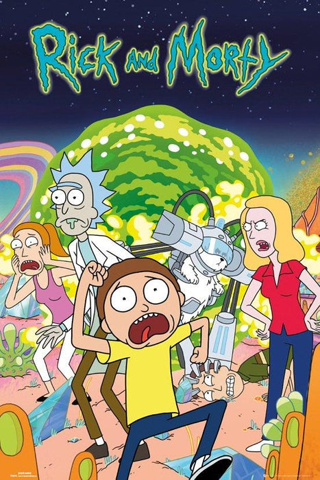 Rick and Morty Group Stor Plakat