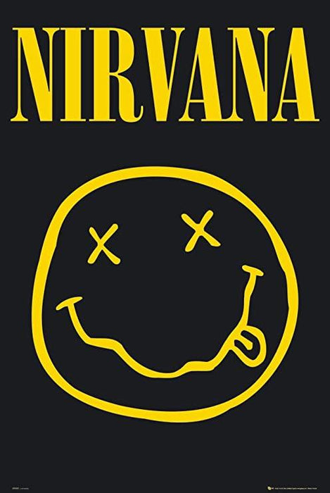 Nirvana Smiley Stor Plakat