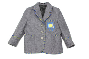 Girl's Grey Woolen Blazer