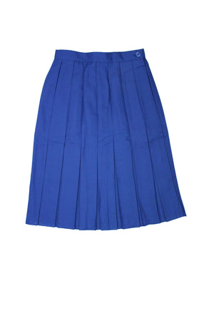 Royal Blue Box Pleat Winter Skirt