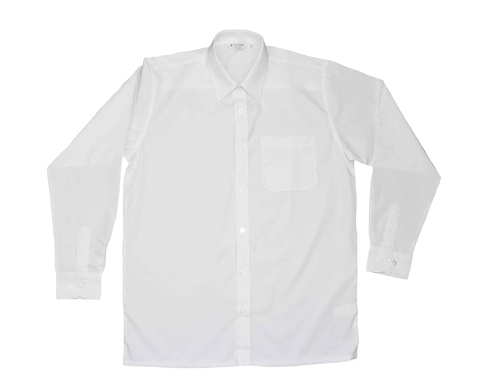 Boys Senior Long Sleeve White Shirt (Pack of 2)