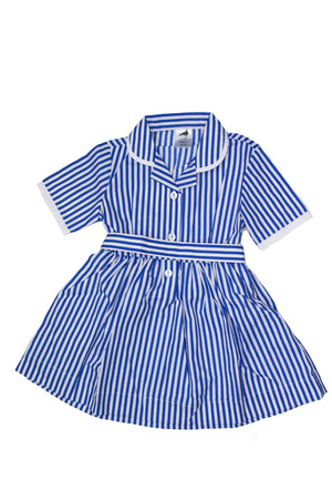 White And Blue Striped Summer Dress