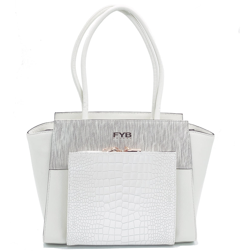 Smart Tech Exec Handbag - White