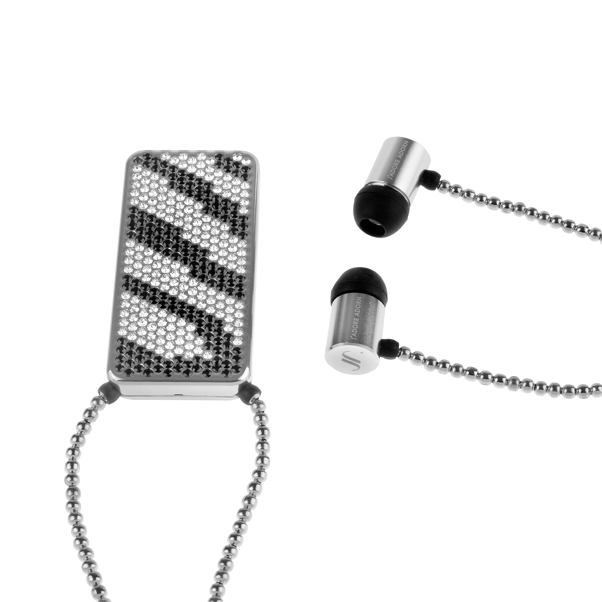 Bluetooth Necklace Earphones - Zebra
