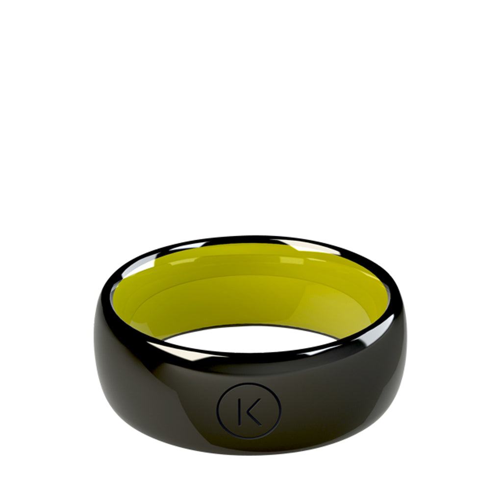 Contactless Payment Ring Black Leaf
