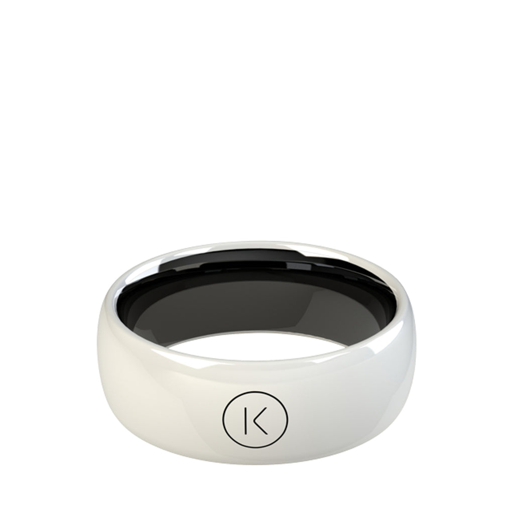 Contactless Payment Ring White Jet