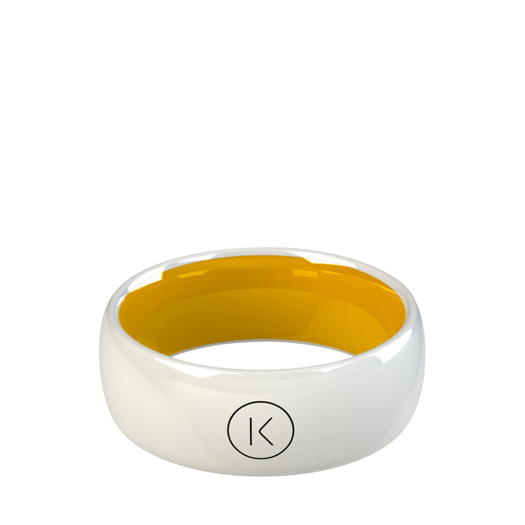 Contactless Payment Ring White Sun