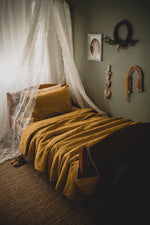 Mustard Luxe Bedding