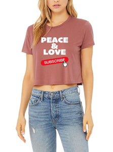 Silver Lightning Apparel Peace and Love Flowy Top