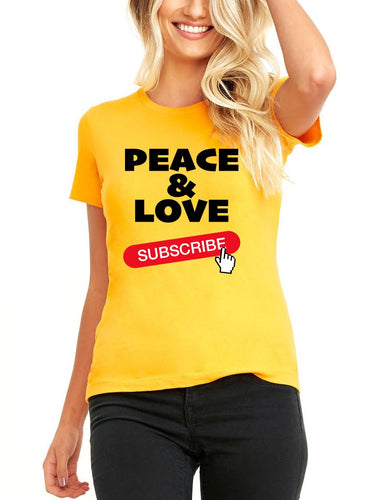 Silver Lightning Peace and Love Short Sleeve Ladies TShirt