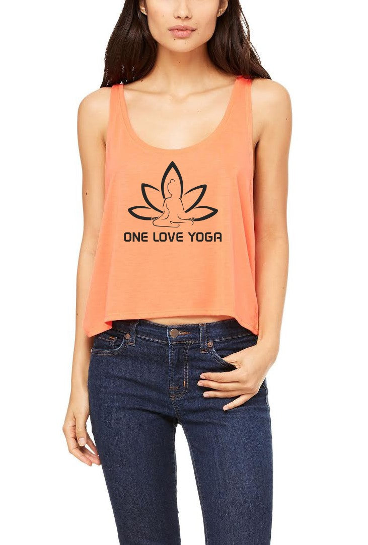 Silver Lightning Apparel Flowy Boxy One Love Yoga Tank