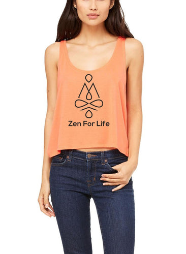 Silver Lightning Apparel Flowy Boxy Yoga Zen for Life Tank