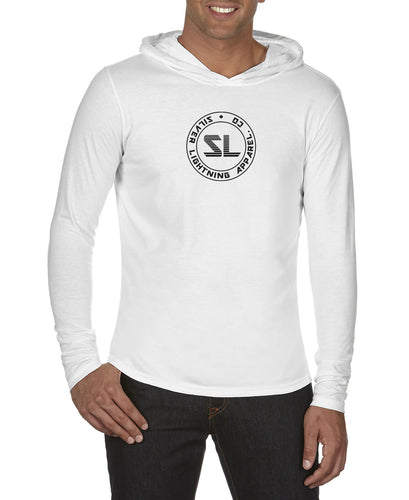 Silver Lightning Long Sleeve Hooded Tee