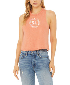 Silver Lighting Women's Racerback Cropped Top