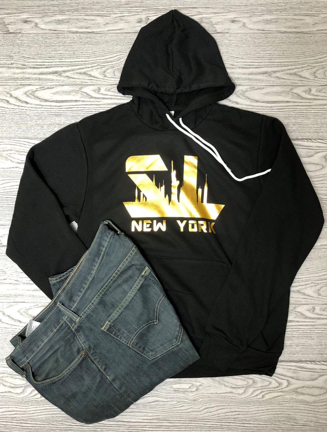 New York Gold Unisex Sponge Fleece Pullover Hoodie