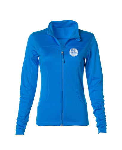 Silver Lightning Women Water Resistant   Poly-Tech Zip Fleece
