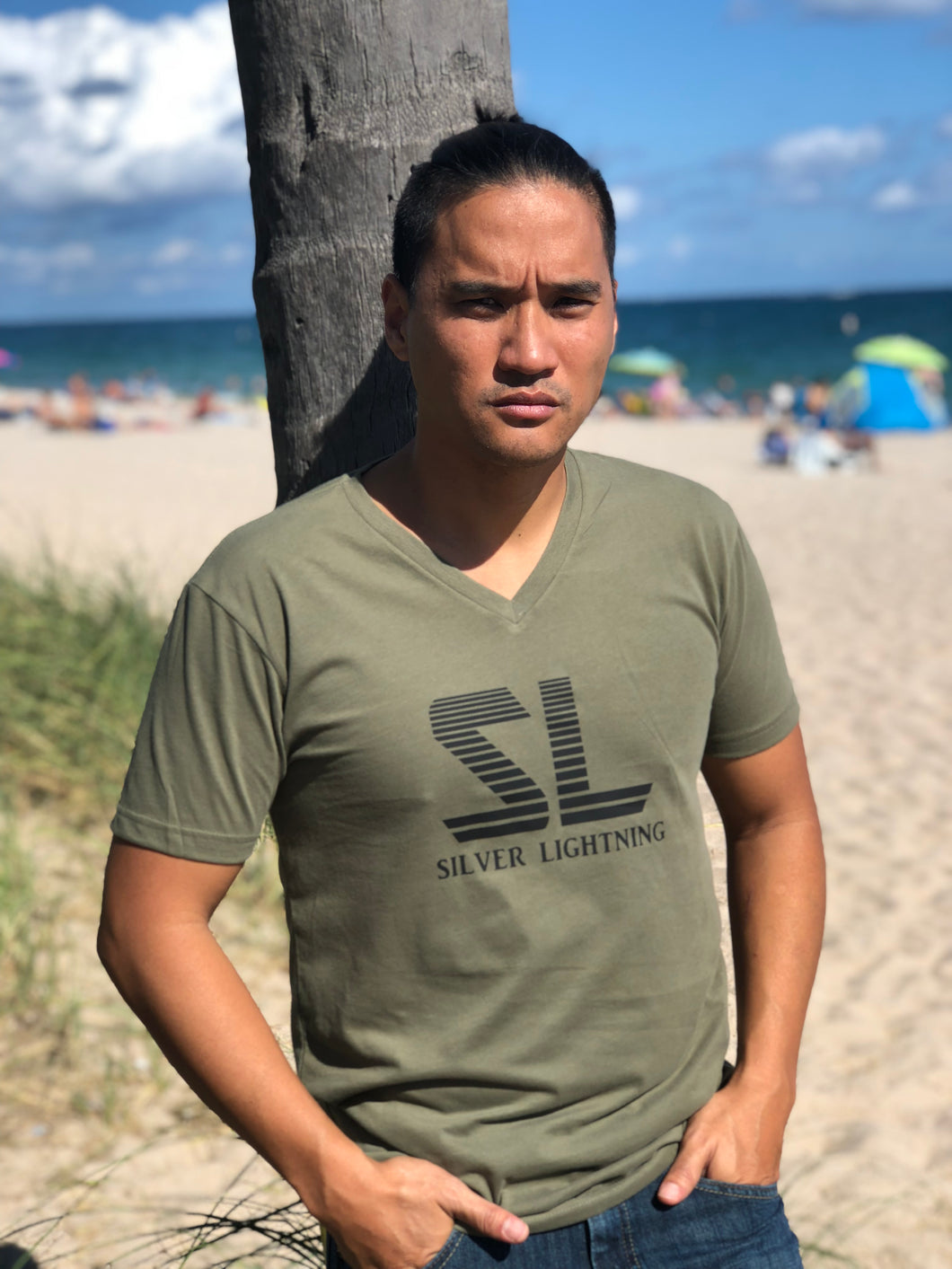 SL Military Green Tri Blend Tee