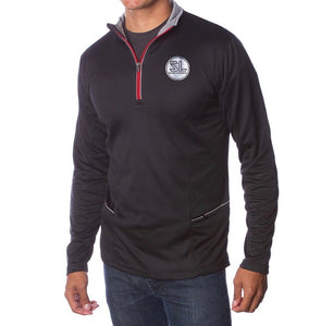 Silver Lightning Adult  Water Resistant Lightweight Poly-Tech 1/4 Zip Cadet Fleece
