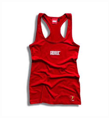 "Women's ""Classic"" Spandex Racerback Tank in Red"