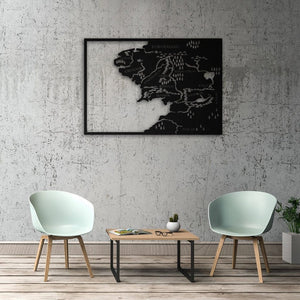 Middle Earth - Metal Map-Metal Wall Art-Metal World Map