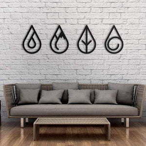 Four Elements - Metal Wall Art - Northshire Wall Art