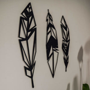GeoFeathers - Metal Wall Art - Northshire Wall Art