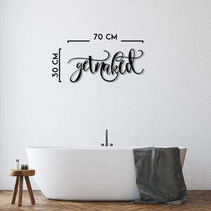 Get Naked - Metal Wall Art