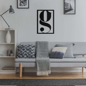 Letter G - Metal Wall Art - Northshire Wall Art