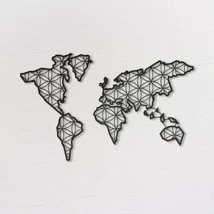 Liv - Metal World Map Wall Art - Northshire Wall Art