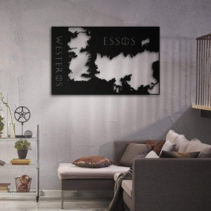 Map of Kingdoms - Metal Map - Northshire Wall Art