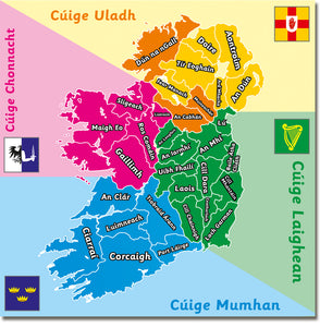 Map of Ireland - Irish version