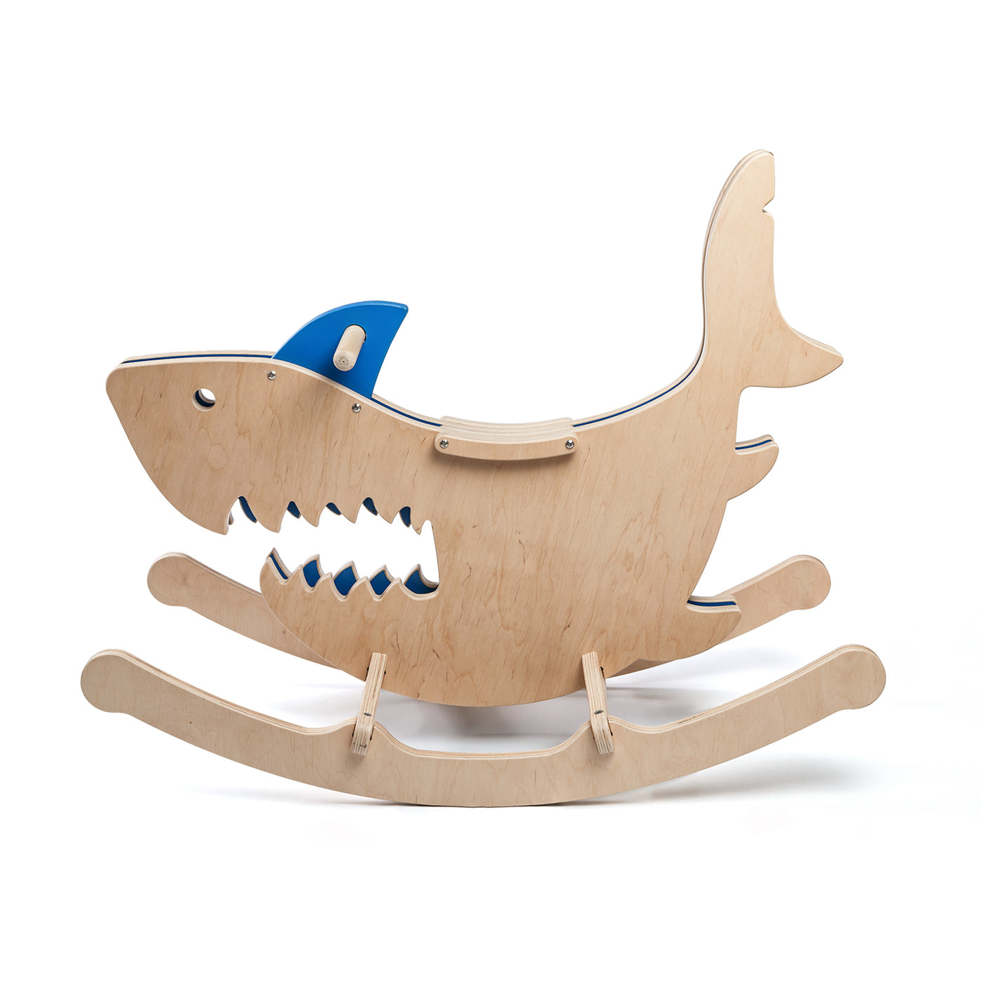 rocking monsters shark new shape of wooden rocking horses