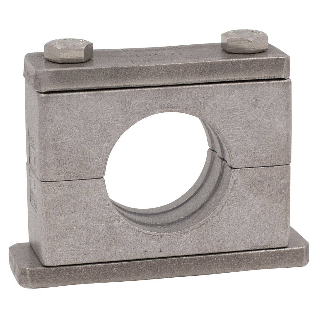 "1-1/2"" Pipe Clamp (1.90"" I.D.) Heavy Series Aluminum Clamp Carbon Steel Hardware"
