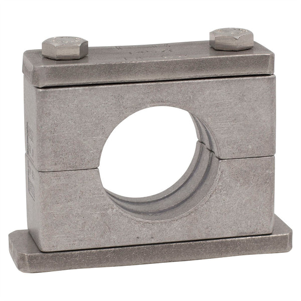 "5"" Pipe Clamp (5.563"" I.D.) Heavy Series Aluminum Clamp Carbon Steel Hardware"